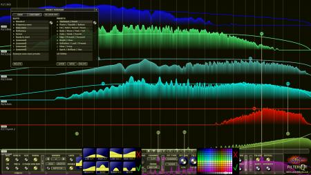 Filterizor 2D 3D multi channel equalizer filter effect audio plug-in VST VST3 AU AAX Free dialogs