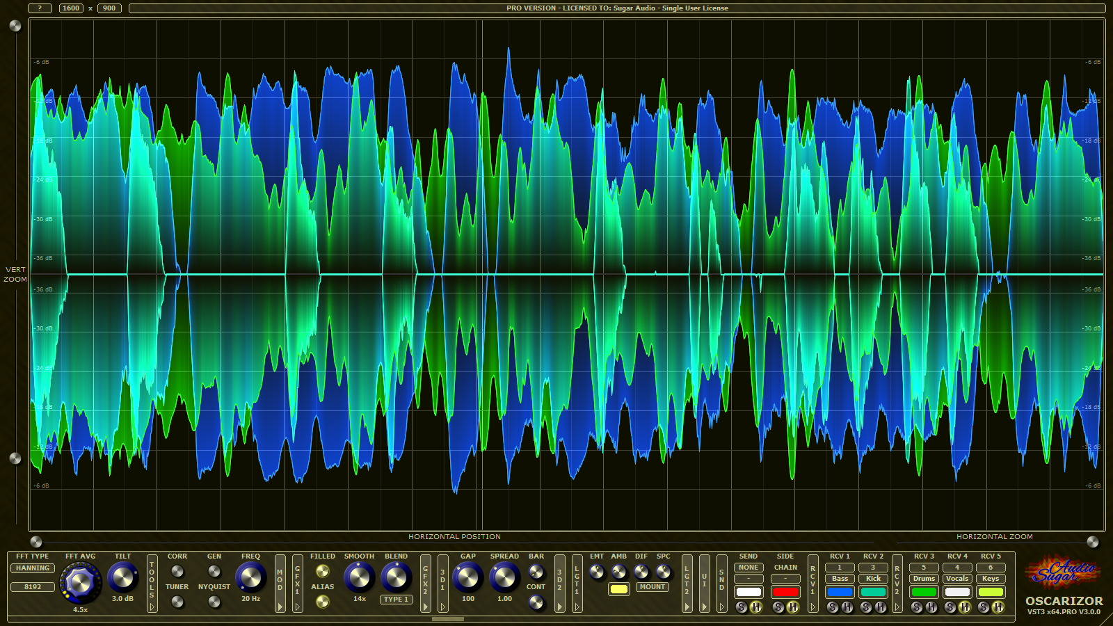 Oscarizor - 2D/3D Multi Channel Spectrum Analyzer Audio Plug-In ...